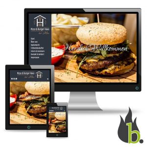 Pizza & Burger Haus zur Alm Website