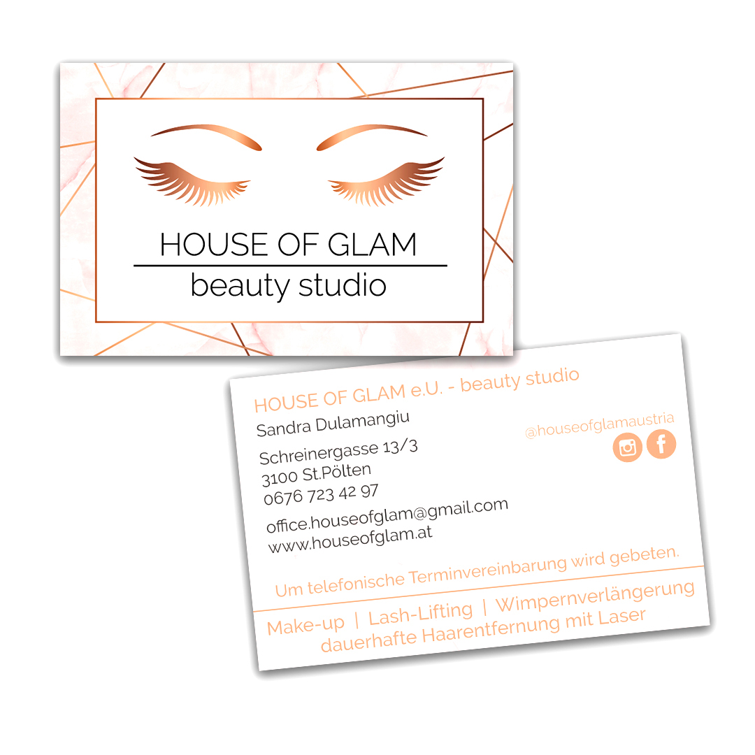 Visitenkarten House of Glam